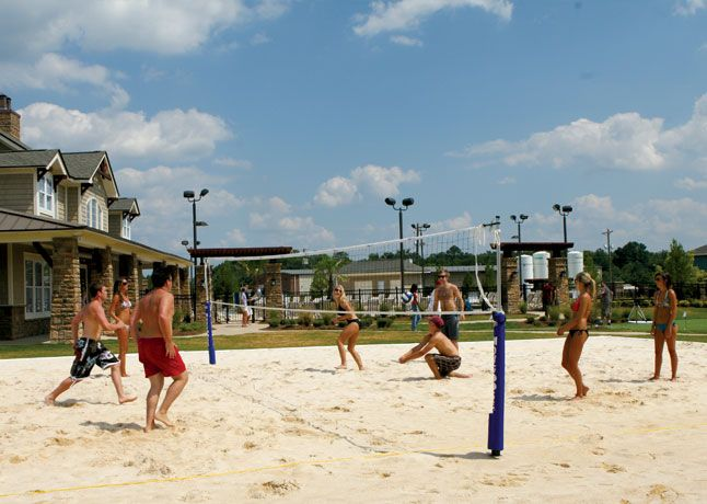 Sand Volleyball Sand Volleyball Court Resort Style Pool Retreat