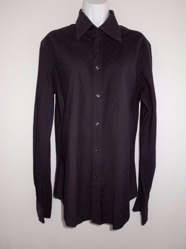 b6c28ff8 ZARA Button Down Shirt Women M Black Textured 100% Cotton Shirt ...