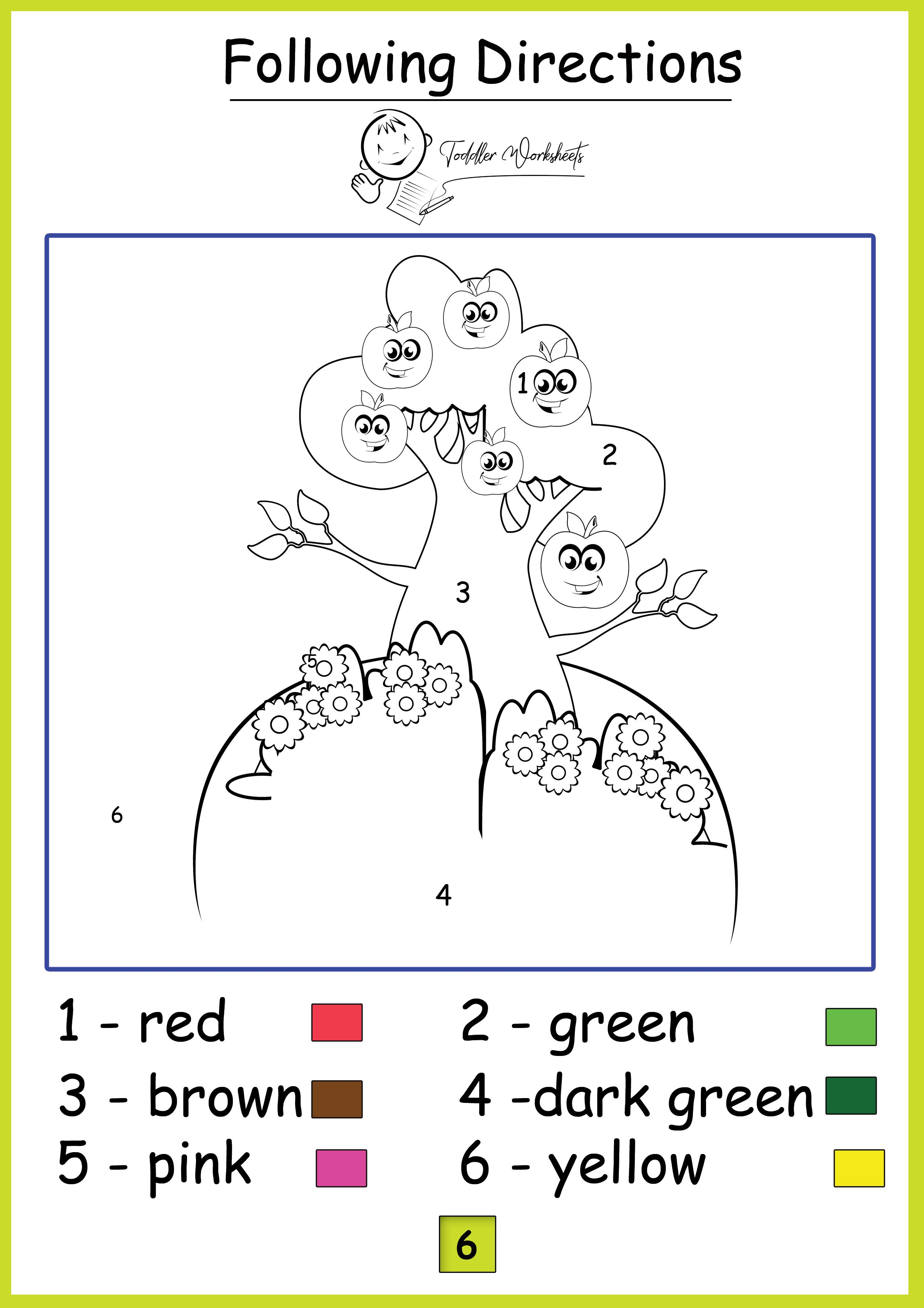 Preschool Free Worksheets Colors