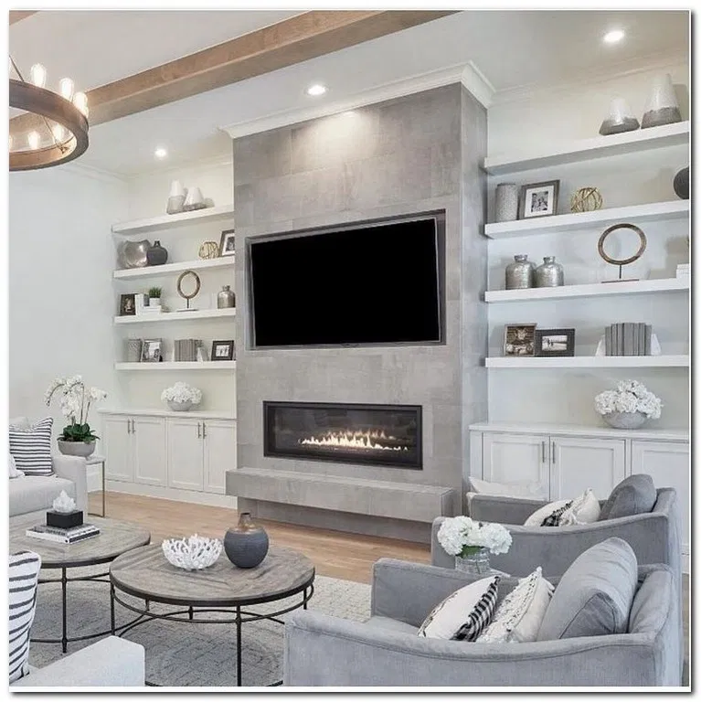 38 Simple Design Living Room Fireplace Built In Shelves Living Room Fireplace Design Modern Fireplace