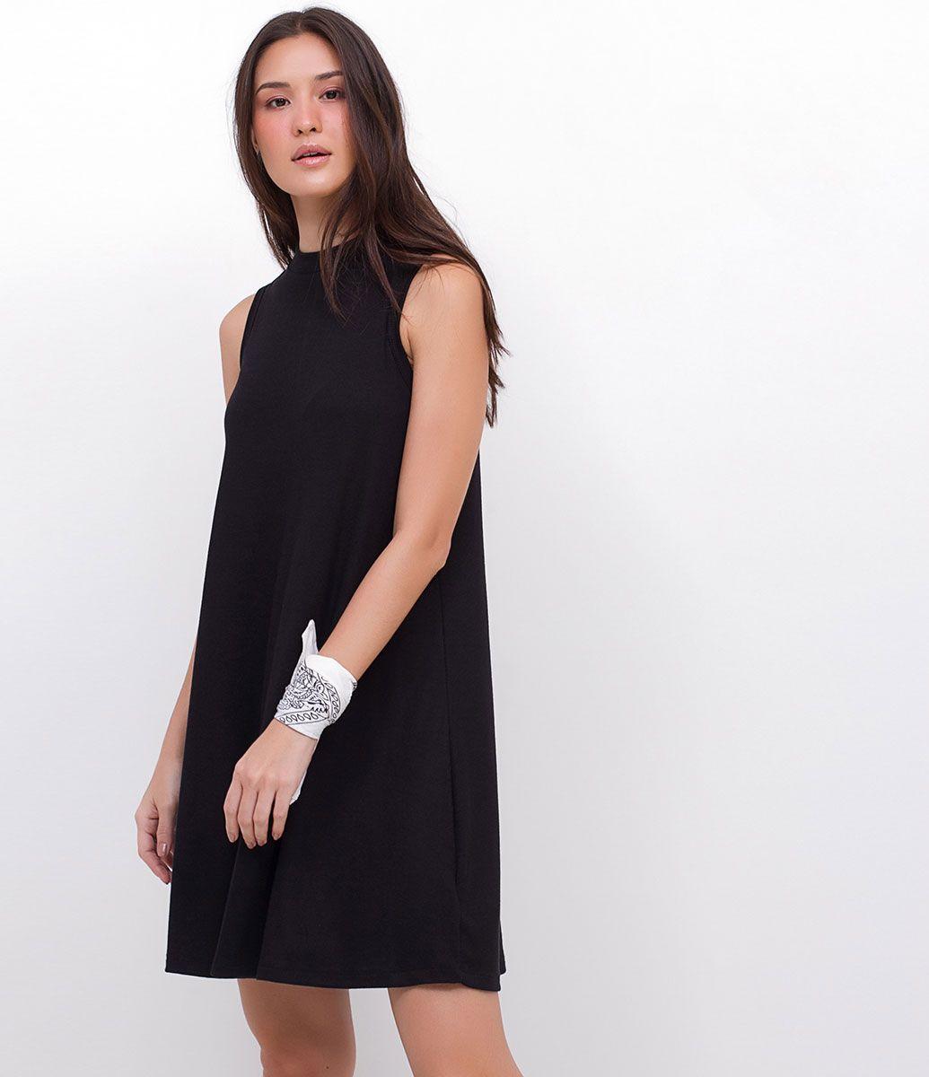6d16ae4c0a Vestido feminino Sem mangas Com gola alta Marca  Blue Steel R  69