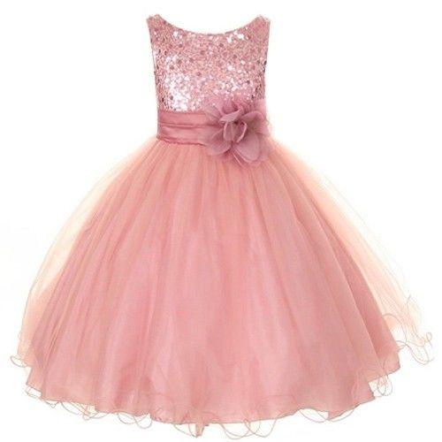 Vestido rosa de fiesta para nina