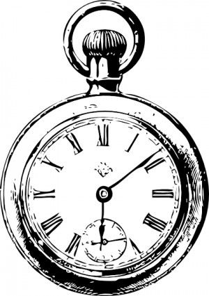 Pocket Watch clip art | doodling | Pocket watch drawing