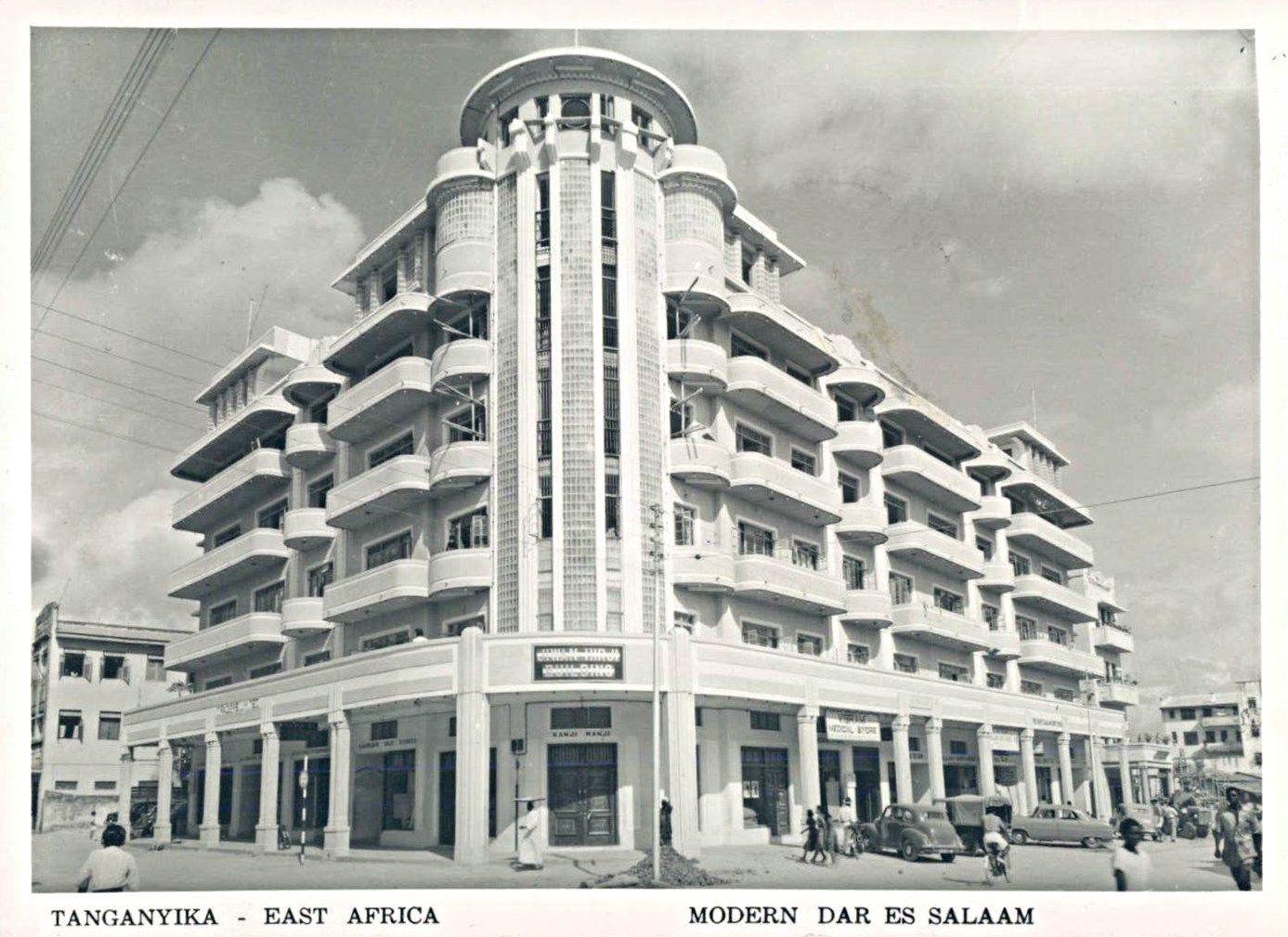 Modern Hotel Dar Es Salaam Tanganyika 1950s Afrika
