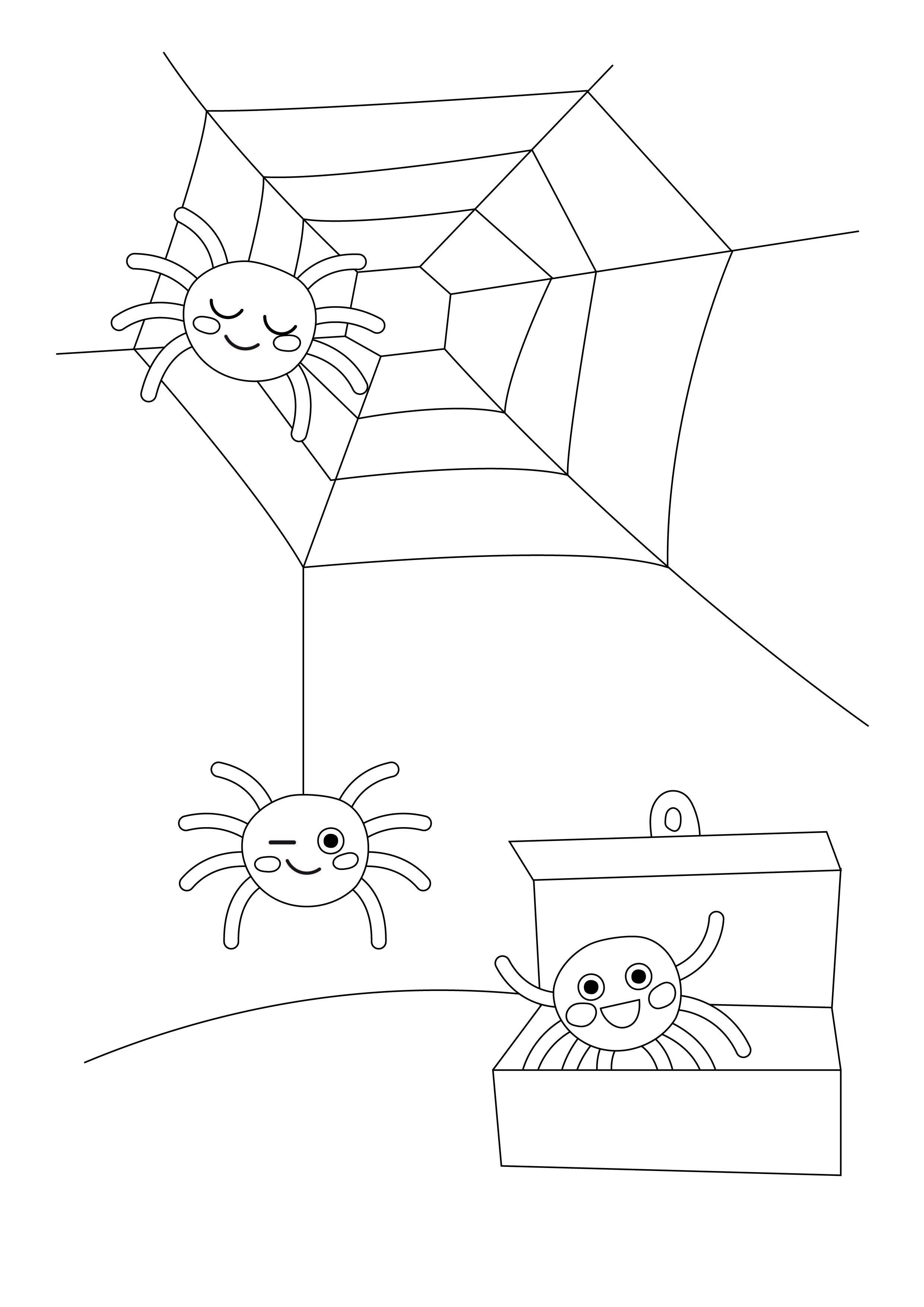 Värityskuva | free printable pattern | lasten | lapset | joulu | idea | askartelu | kädentaidot | käsityöt | tulostettava | kuva | paperi | värittäminen | väritys | värittää | hämähäkki | koti | leikki | DIY | ideas | kids | children | crafts | paper | picture | coloring | spider | christmas | home | Pikku Kakkonen