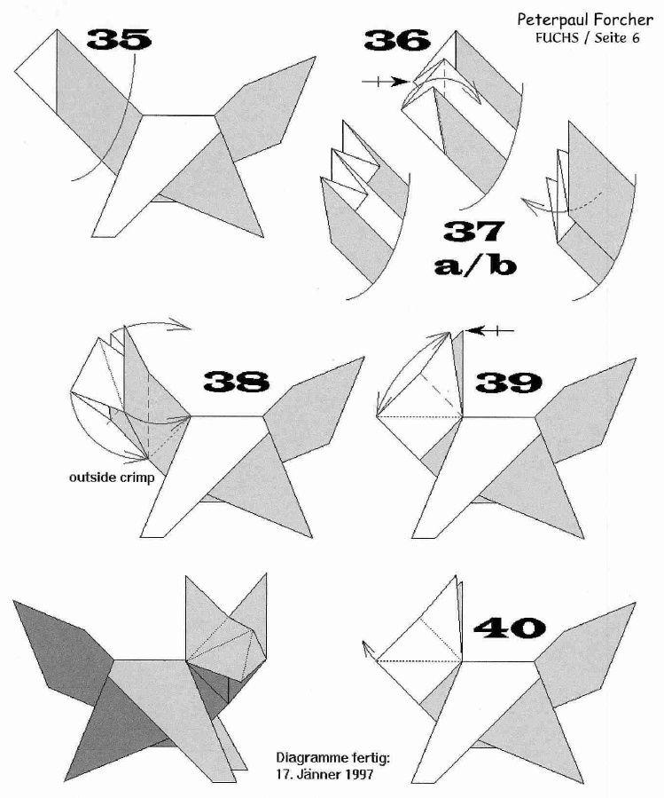 Forchers Fox Instructions Crafts Pinterest Foxes Diy Paper