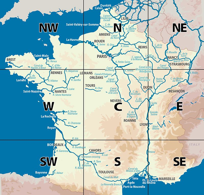 French canals index map List of canals in France Wikipedia