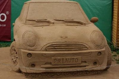 Sculptures in sand - 16 Pics | Curious, Funny Photos / Pictures