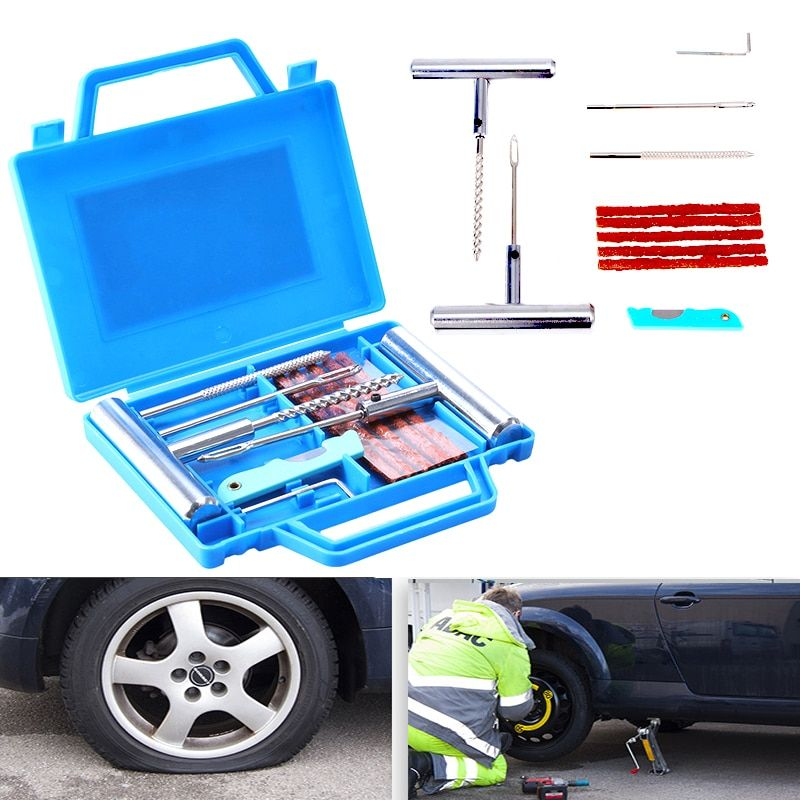 11pcs Car Van Motorcycle Bike Emergency Heavy Duty Tubeless Tire