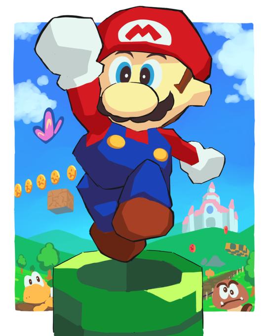 ガしガし On Super Mario Art Super Mario Bros Mario Luigi