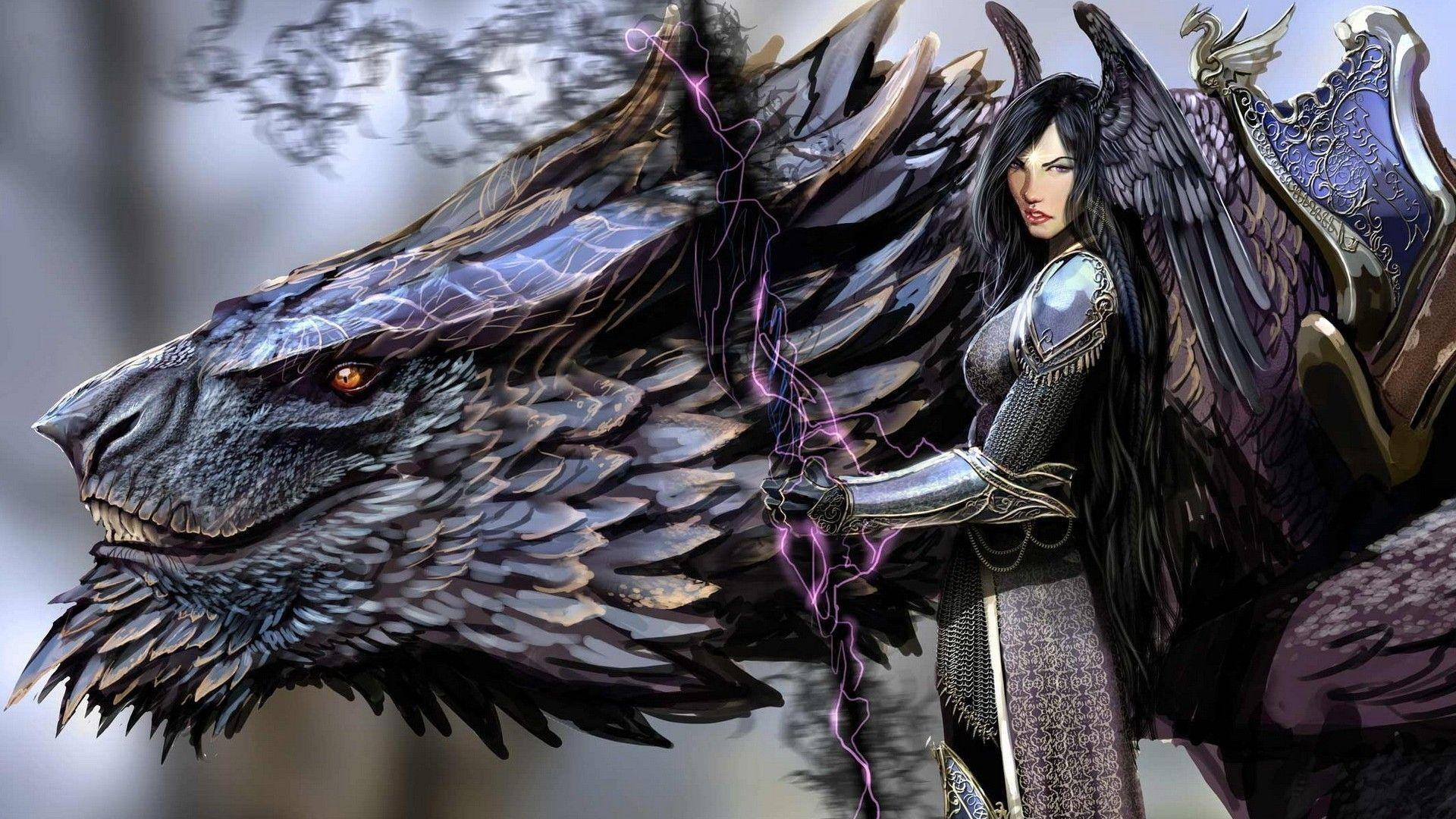 Artwork Concept Art Women Dragon Warrior Fantasy Art Wallpapers Hd Fantasy Dragon Dragon Art Beast Wallpaper