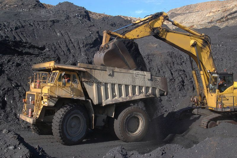 Coal Truck Loading Truck Loading Up With 100 Ton Of Coal At