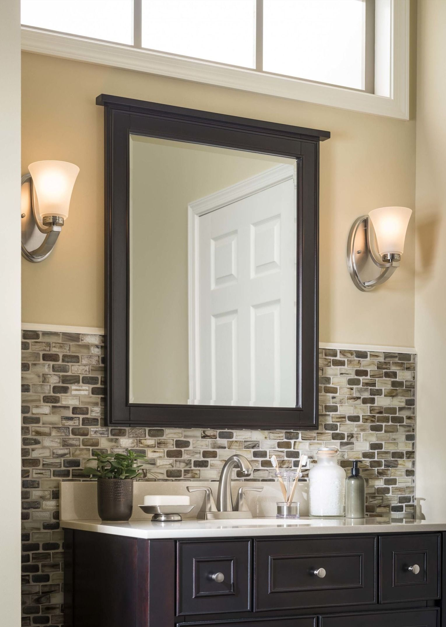 backsplash bathroom ideas efficiently optimize lighting in your bathroom with these four simple tips rustic powder room 6225