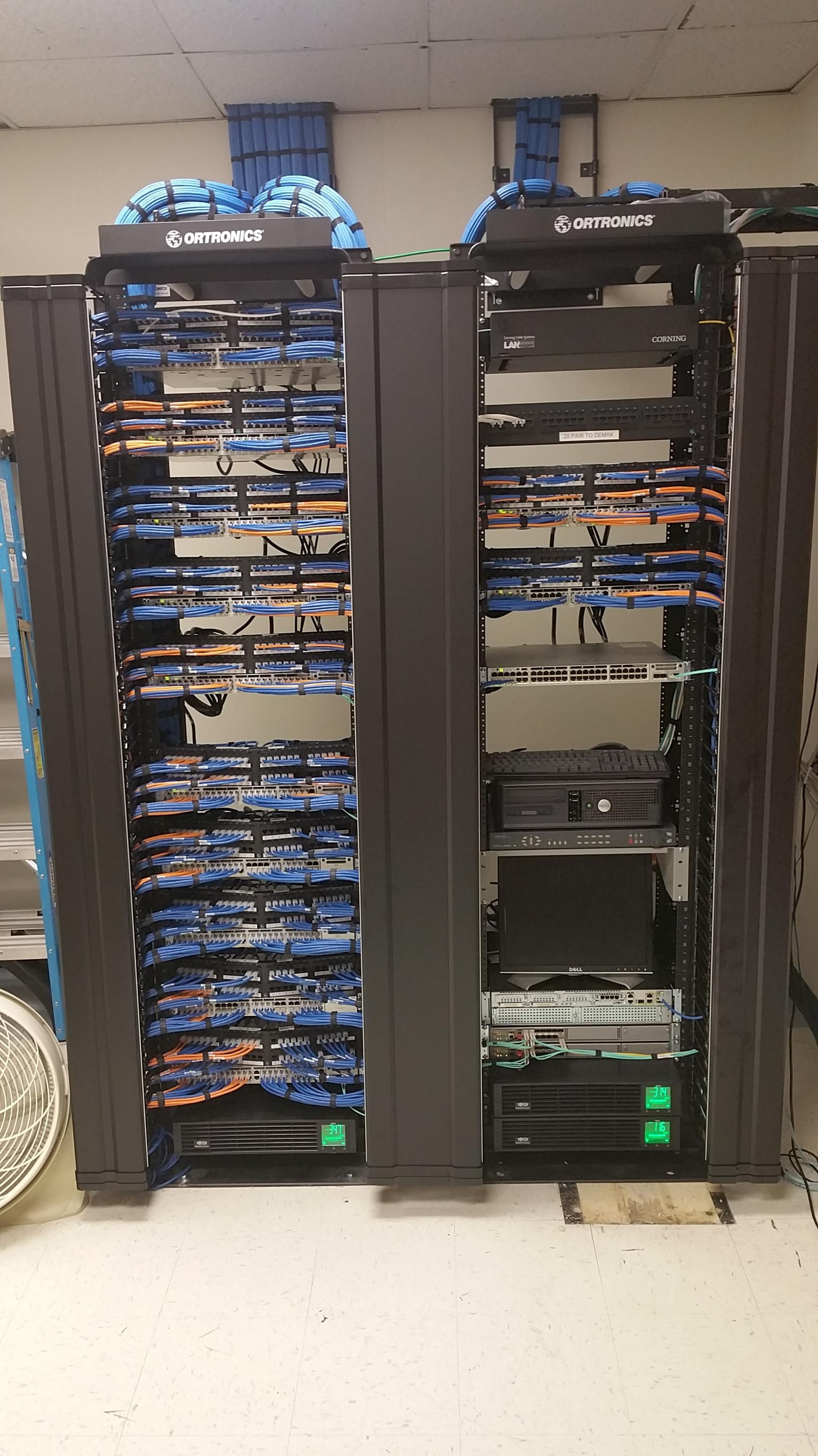 Structured Wiring 8 X 8 Data Patch Panel