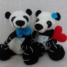Tuto au crochet grands pandas manounette et papounet