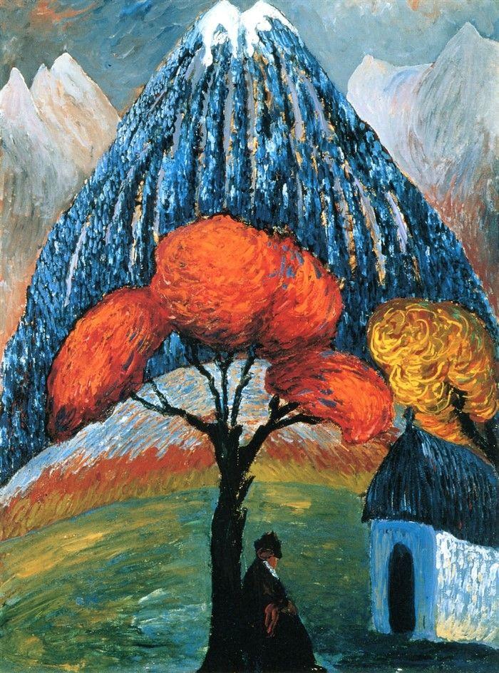 The Red Tree-1910 by Marianne von Werefkin
