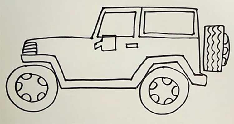 Pin Oleh Gambar Mewarnai Di Sketches To Do Di 2021 Jeep Warna Sketsa
