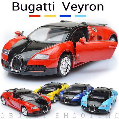 Factory Wholesale Price 1:36 Alloy Car Bugatti Veyron Simulation Car Models  Back Door Open Nice Design