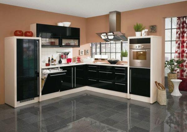 Küchen Boden metod küchen hochglanz schwarz granit boden küche möbel küchen