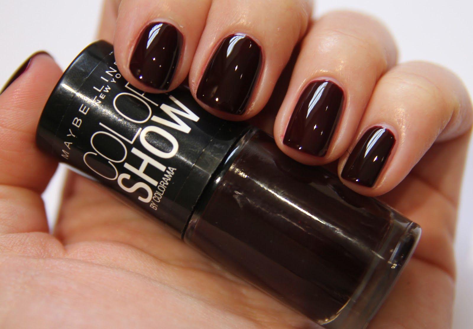 Maybelline Color Show Nailpolish Burgundy Kiss A Beautiful Very Dark Red Nail Polish Almost
