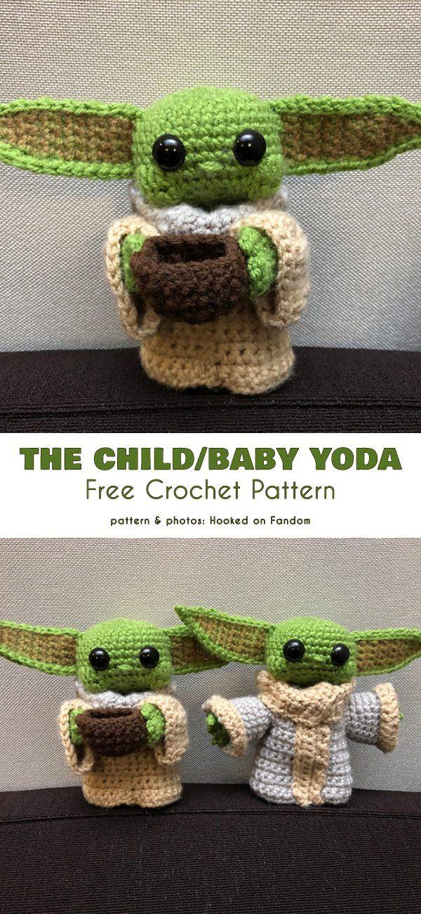 FREE AMIGURUMI PATTERN: Star Wars Yoda | Amigurumi pattern, Star ... | 1300x600