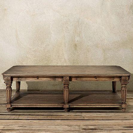 Portage 60 Rectangle Coffee Table in Vintage Oak Arhaus Furniture