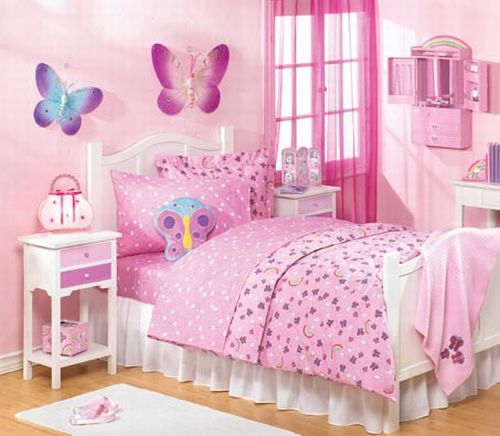 Butterfly Pink Theme Girls Bedroom Girl Bedroom Decor