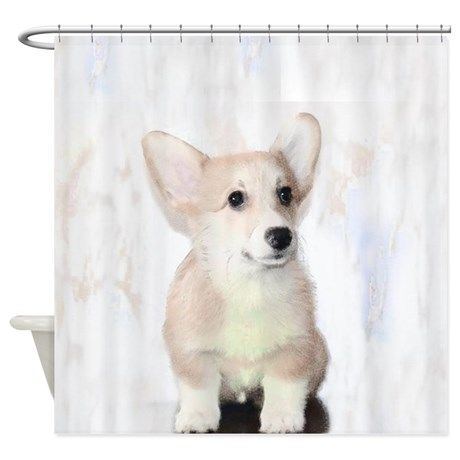 Corgi Puppy Shower Curtain Dog Pet Animal Homedecor