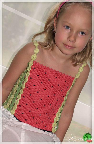Pdf Crochet Pattern Watermelon Tank Top Sz 2 12 Crochet Child