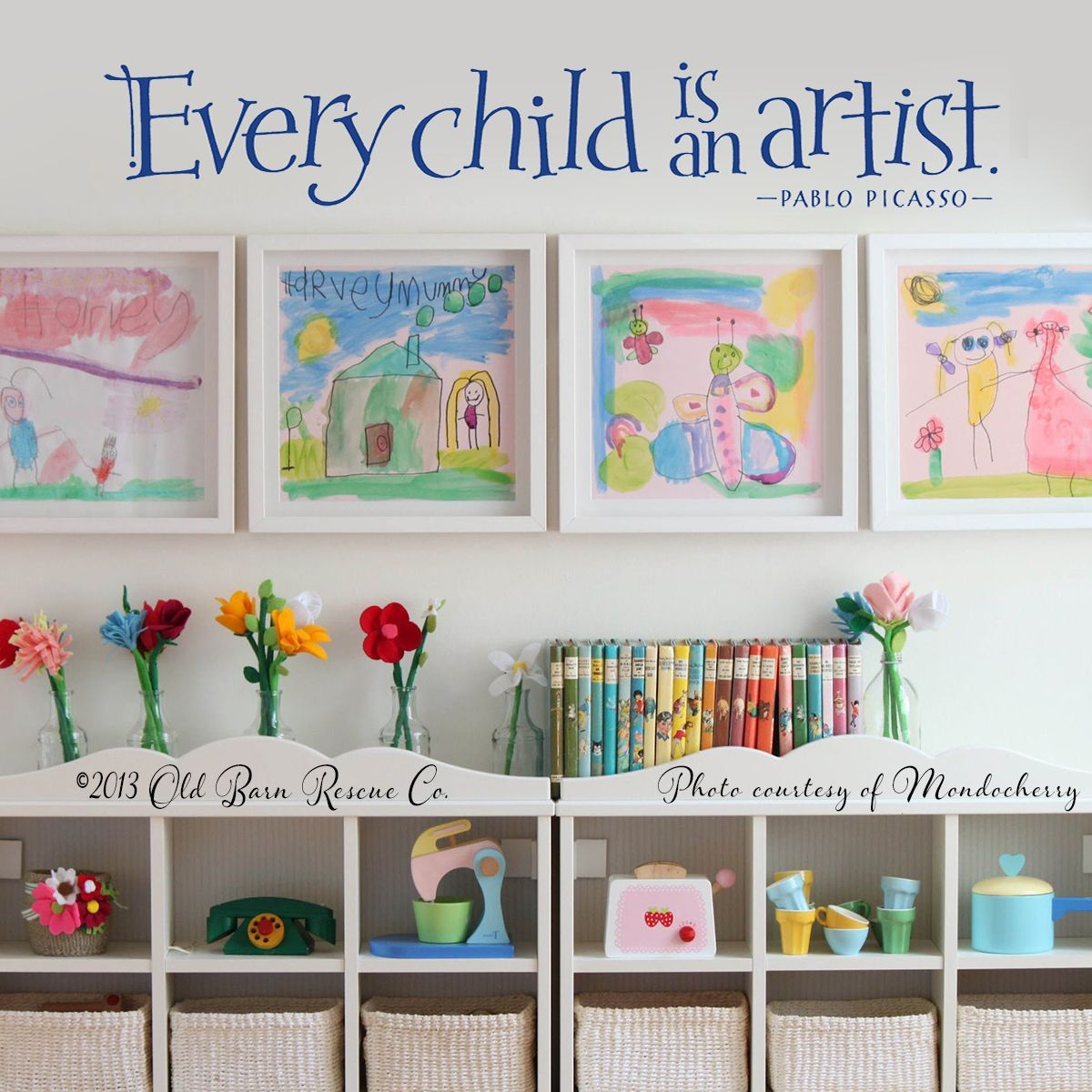 Every Child Is An Artist Pablo Picasso Quotes Words Vinyl Wall Sticker Decal Kid