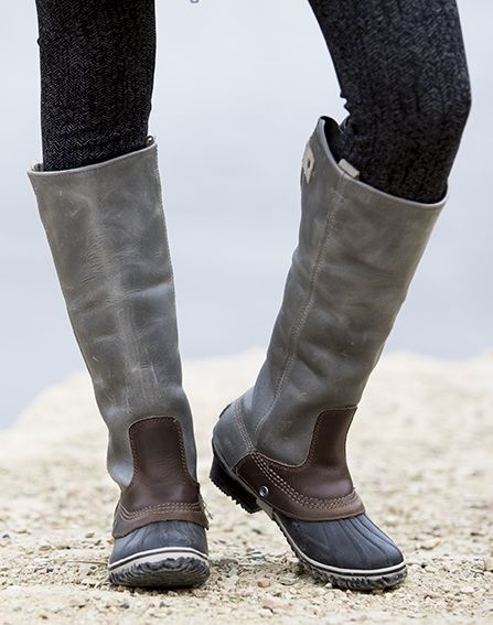 e1e7a80e58f645 We can't help but crush on the Sorel Slimpack Riding Tall boots. Bring on  the snow!