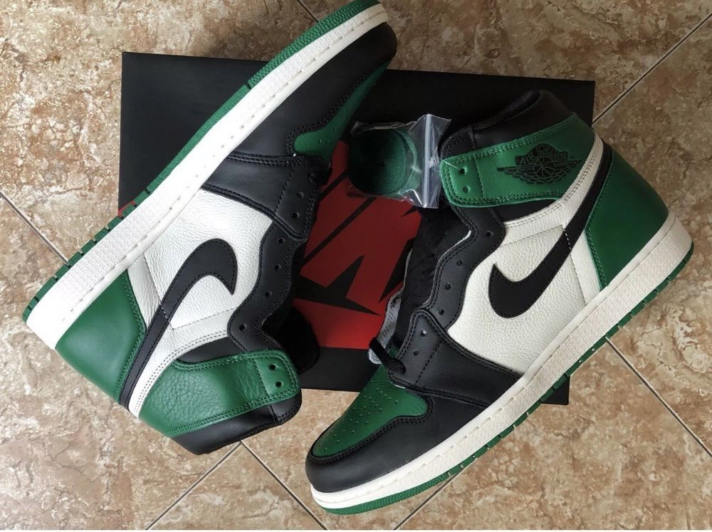 promo code e4c27 45f86 Nike Air Jordan Retro 1 High OG Pine Green Toe sz 13 Black Bred Court  Purple  fashion  clothing  shoes  accessories  mensshoes  athleticshoes  (ebay link)