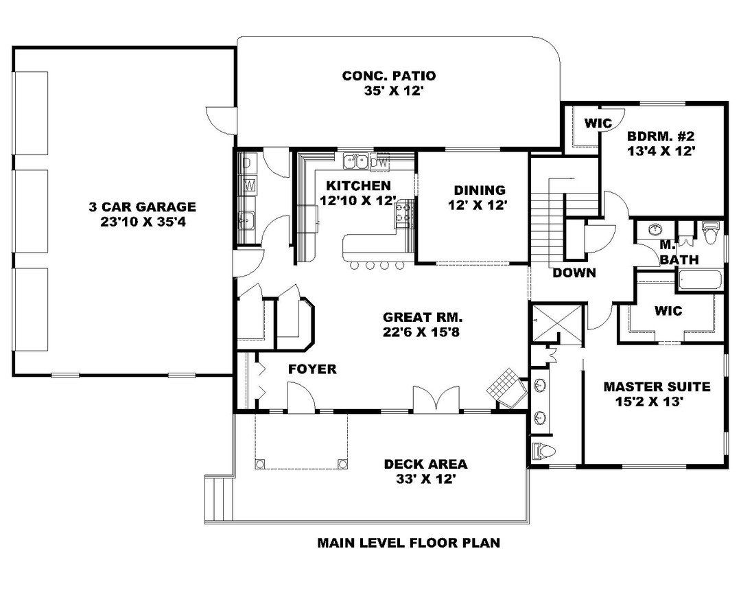 Hpm Home Plans Home Plan 001 3095 House Plans House Floor Plans Mountain House Plans