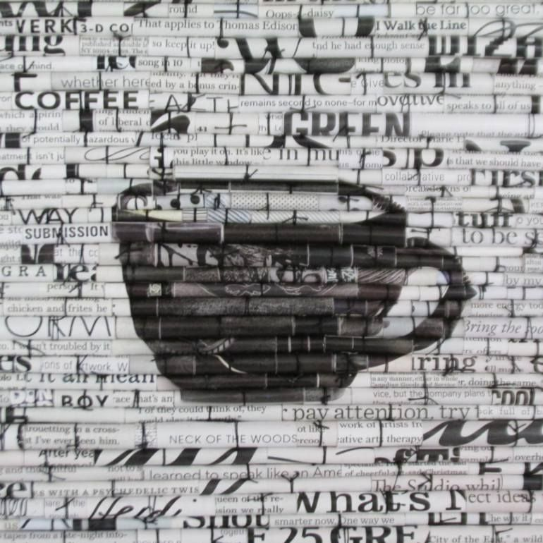 "Saatchi Art Artist Laurie Brown; Collage, ""Black Coffee"" #art"
