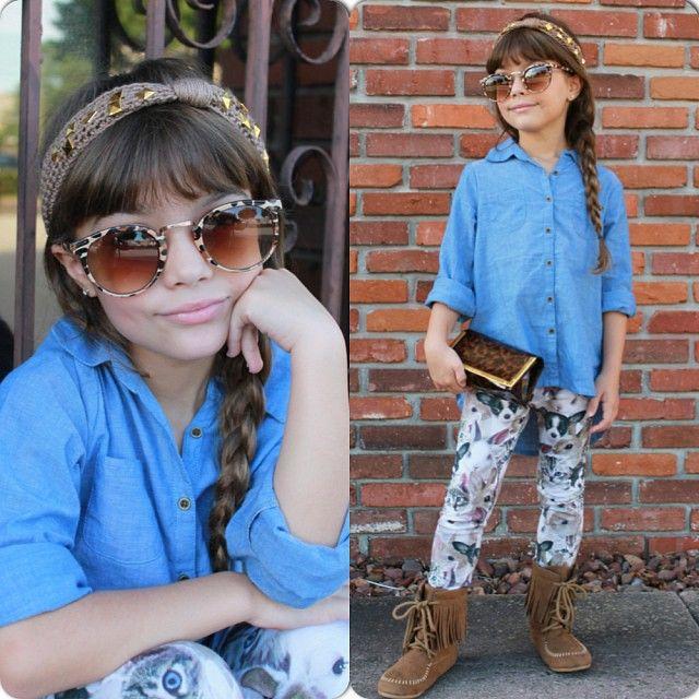 #kids #fashion #leggings #denim