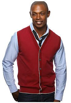Argyle Culture Tipped Cardigan Sweater Vest - Belk.com | New Years ...