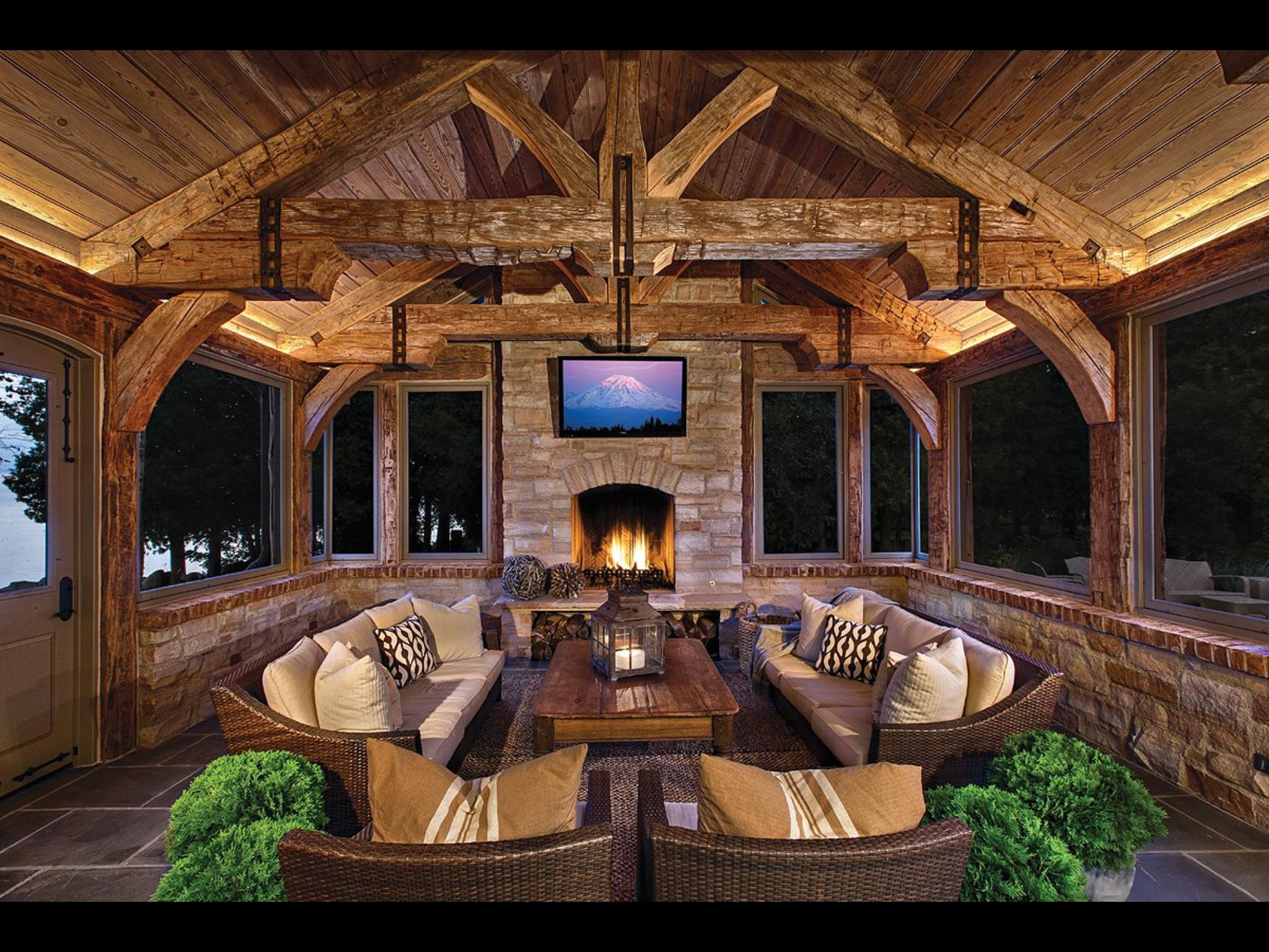 Rustic Screened Porch 1 Dream House In 2019 Outdoor