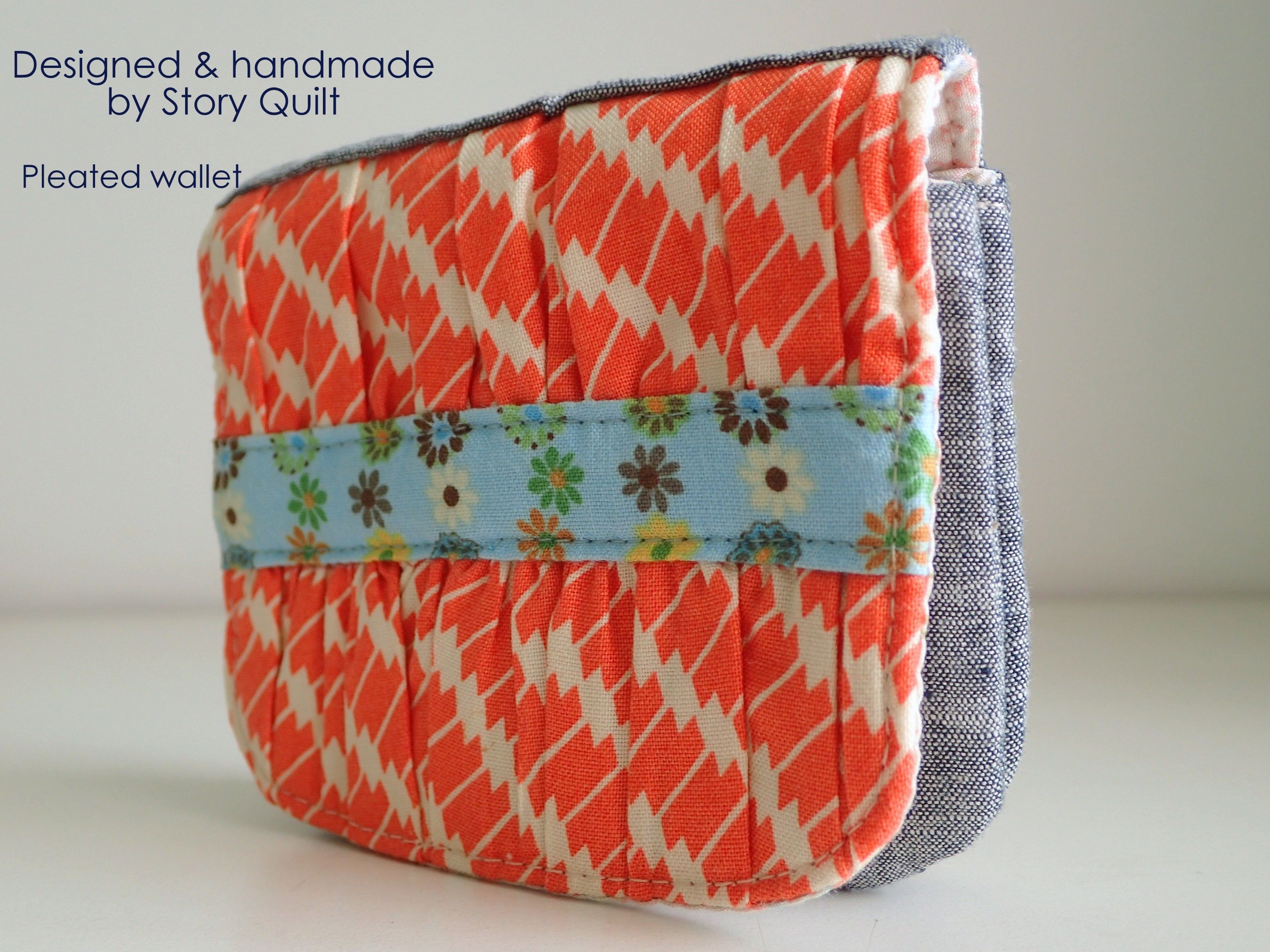 Easy to sew wallet pattern coin purse pattern