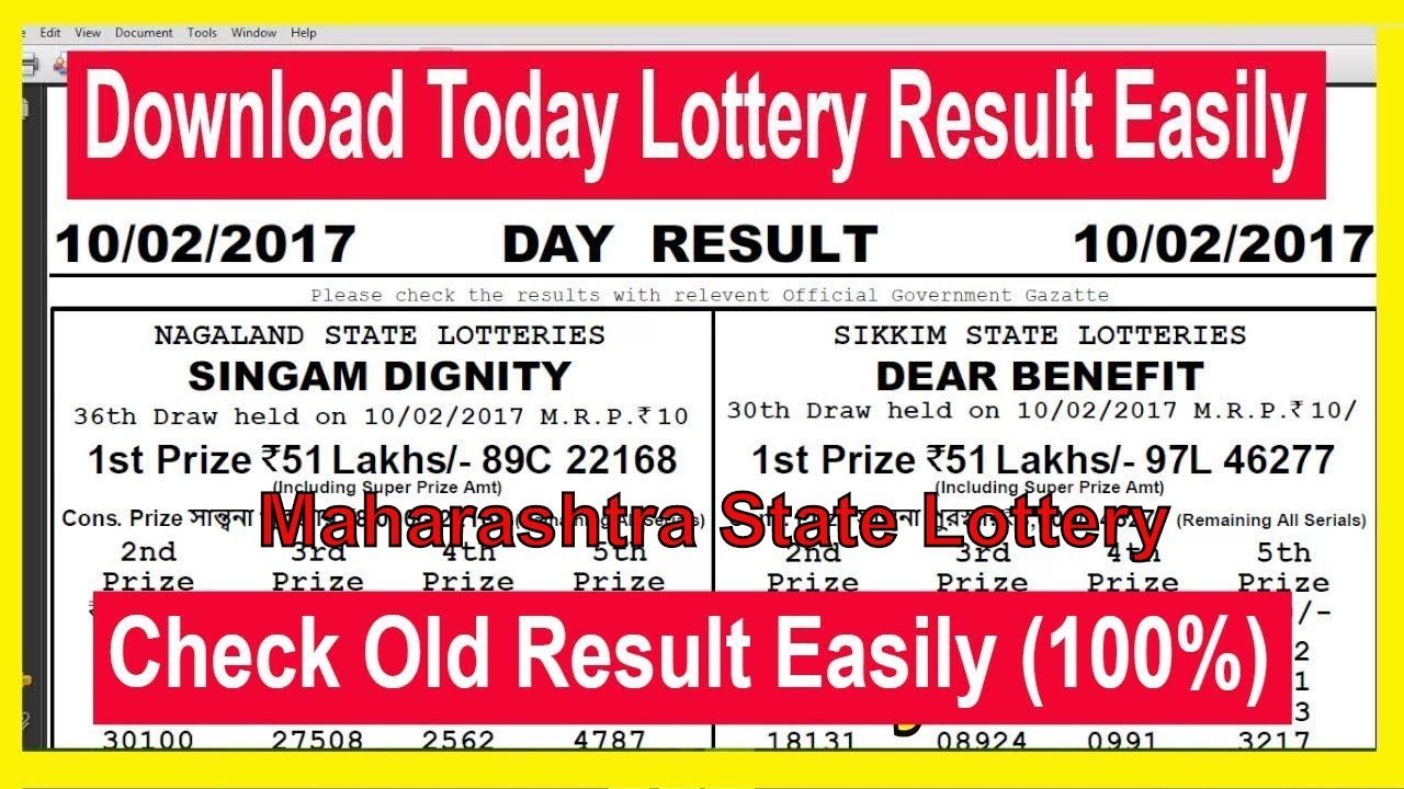 How To Download Maharashtra State Lottery Today Resu…   How To