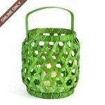 Green Woven Wood Lantern, Small at Kirkland's