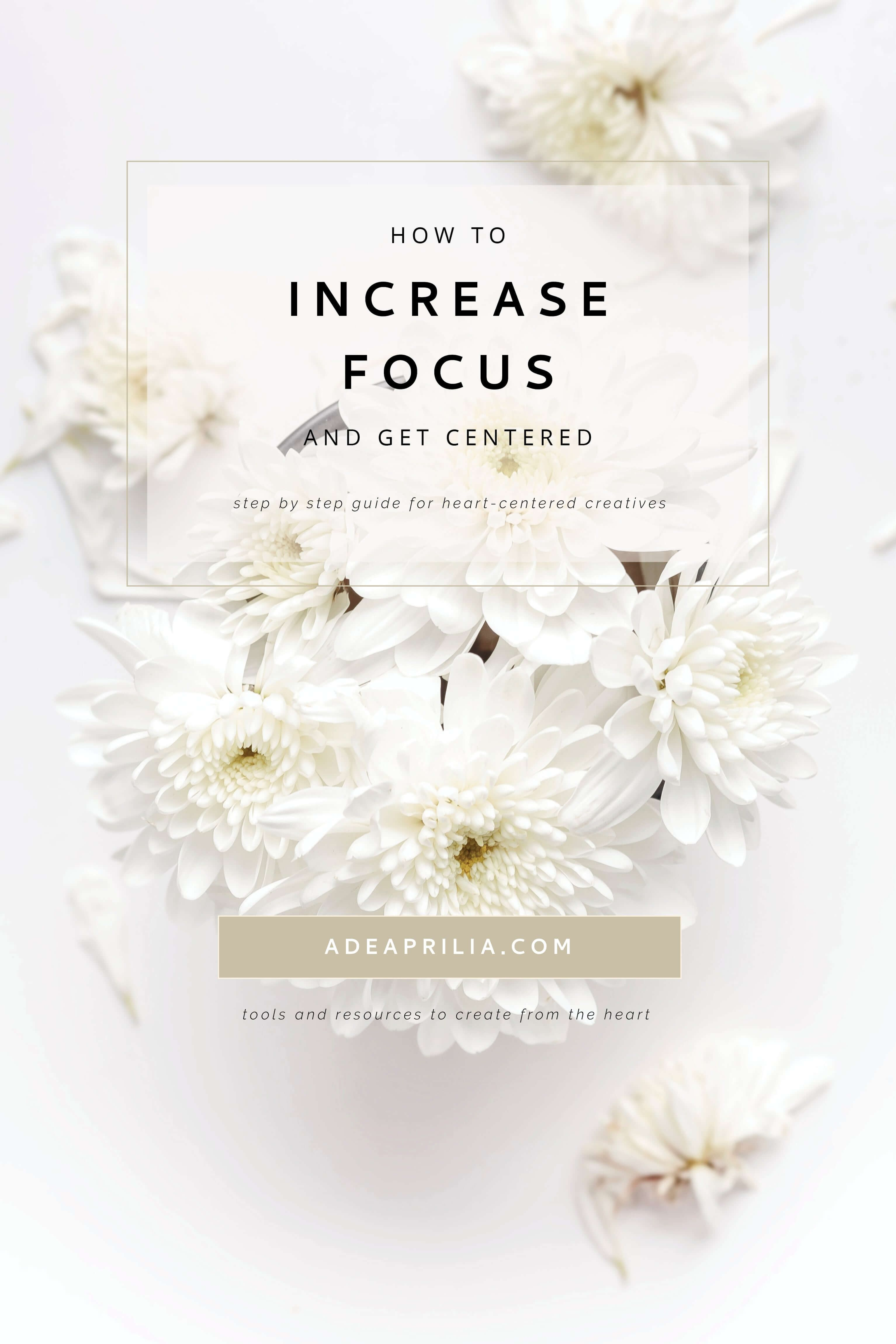 5 Ways To Increase Focus And Get Centered