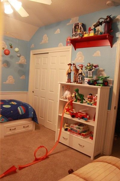 43 Lovely And Cute Bedroom Ideas Images Decor Accessories Toy Story Room Toy Story Bedroom Andys Room