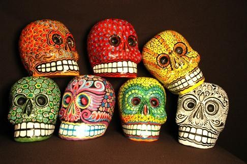 Paper mache sugar skulls