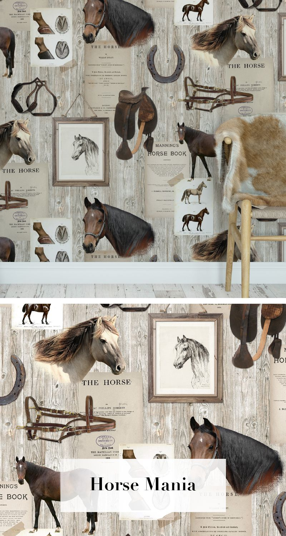 Horse mania tapetenkollektion palette pinterest pferde tapete flur tapete und kinder tapete - Pferde tapete kinderzimmer ...