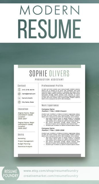 stylish best selling resume template includes 1 2 or 3 page resumes cover letter template and reference letter template
