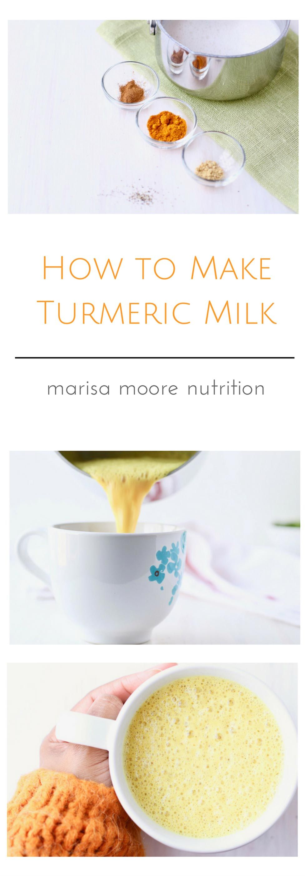 How to Make Turmeric Milk - Golden Milk Latte