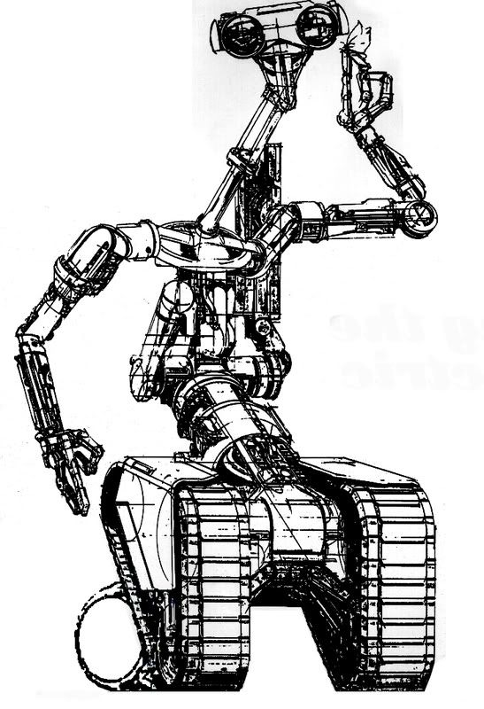 syd mead u0026 39 s concept for the johnny 5 robot from short circuit