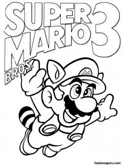 Printable Coloring Pages Super Mario 3 Printable Coloring Pages