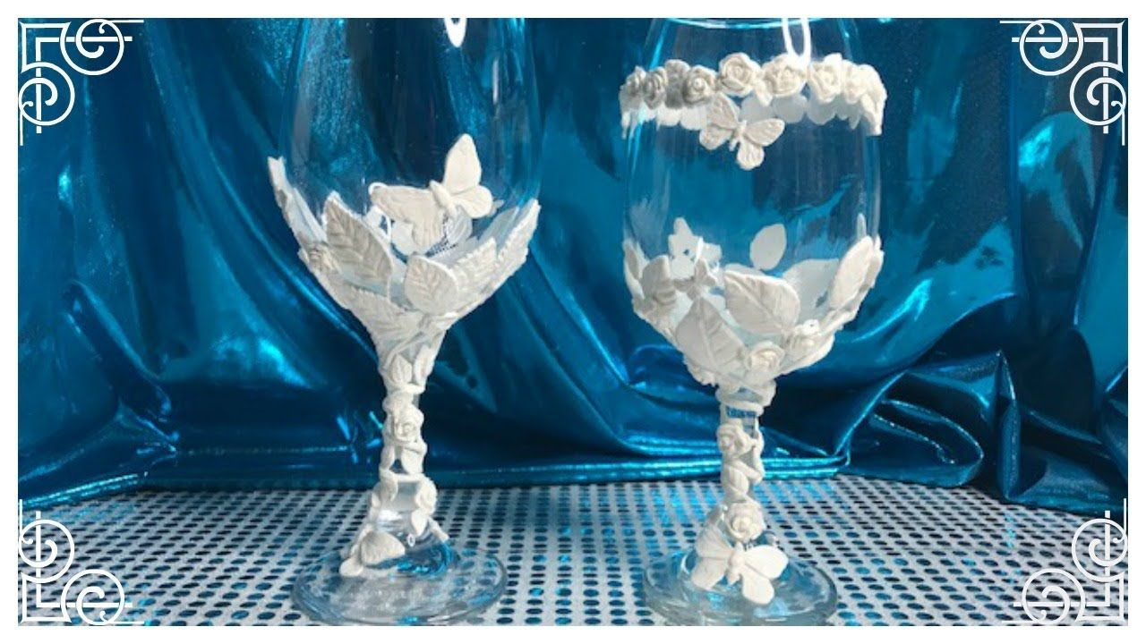 Diy glam dollar tree wine candle holdervase or glass bridal diy