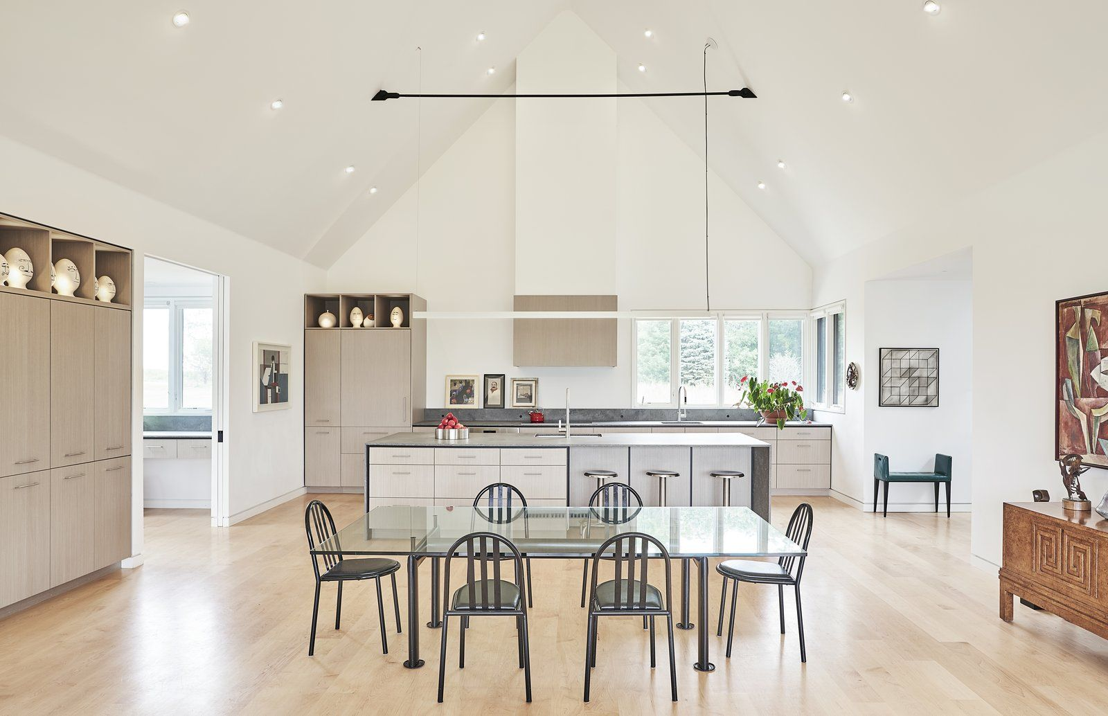 Photo 6 Of 11 In A Minimalist Scandinavian Style Home Rises On A Scandinavian Style Home White Oak Kitchen Home